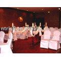 cubierta de la silla del poliester 100%, cubierta de la silla de banquete del hotel visa, cubierta de la silla blanca