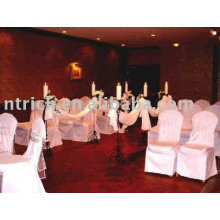 100% polyester chair cover,hotel/banquet visa chair cover,white chair cover