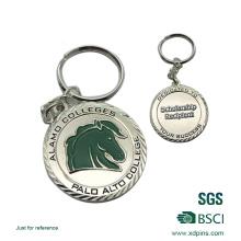 Llavero barato modificado para requisitos particulares de alta calidad del logotipo del caballo del esmalte