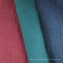55% Lino 45% Tela de algodón, Crepe Algodón Tela de lino