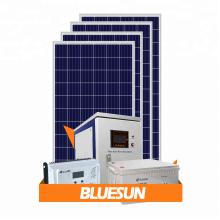 Bluesun melhor projeto preço barato 1000 w 1kw 5kw 10kw painel solar kit para casa