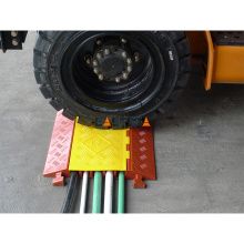 Five Channels Rubber Cable Protector,Road Speed Bump Cable Ramp Floor Cable Protectors