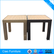 Outdoor Waterproof Rattan Wood Table