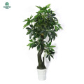Artificial tree - Fake Braided Money Tree (51-Inch) with Large Lush Green Leaves