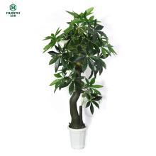 Künstlicher Baum - gefälschter umsponnener Geld-Baum (51-Zoll) mit großen üppigen grünen Blättern