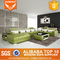 Sexy U shape extra 7 seaters livining room sofa with cushions