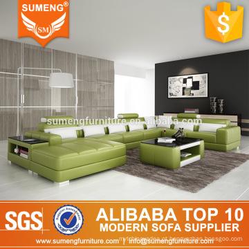 Forma de U sexy extra 7 lugares sala de estar sofá com almofadas