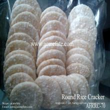 Biscoito de arroz redondo coreano branco