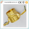 Camlock Brass type D, cam lock fittings, quick coupling China manufacture