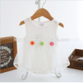 OEM Summer new born dress baby romper sleevelss baby girls onesie solid color soft cotton baby romper