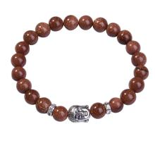 Goldstone naturel 8MM Bracelet prière en bouddhisme