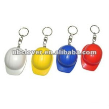 plastic safe hat shape bottle opener keychain