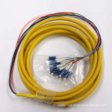 1m LC Upc ao cabo do remendo da fibra óptica do Único-Modo 3.0mm do PVC 9/125 OS2 do PVC Upc do LC