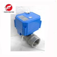 dc3-6v dc12v CWX-25S électrique vanne à boisseau sphérique