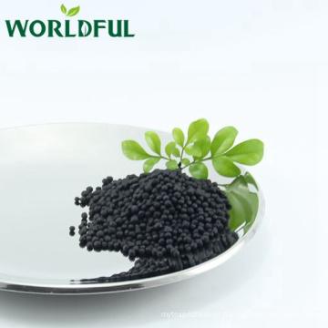 bola preta brilhante do ácido aminado com o adubo orgânico agricultural de NPK 16-0-1