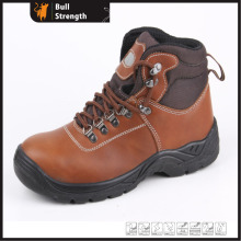 Industrial Leather Safety Boots with Steel Toe and Steel Midsole (SN5183)