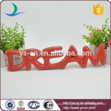 """""""DREAM"""" forma placa de signo de la placa de cerámica para la decoración"""