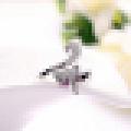 Women′s Beautiful 925 Sterling Silver Fox-Shaped Opening Ring