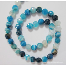 Бусины синего агата, драгоценный камень, (BLUGT101)