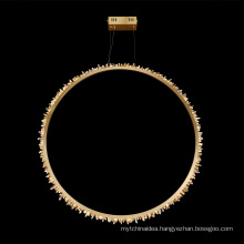 New Style Hanging Wedding Luxury Modern brass Crystal Chandelier Pendant Light