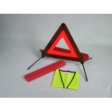 Triángulo de advertencia de tráfico establecido para el camino del camino del coche (DFS1011)