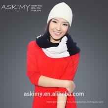Модный зимний вязаный кружевной шарф