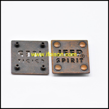 Botón de Metal etiqueta de alta calidad para el bolso