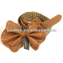 Women's Braided Belt With Brown PU, Alloy Accessories, Braided Leather
