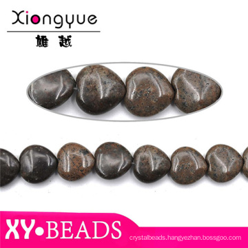 Where To Find Semi Precious Stones Coffee Agate Heart Beads