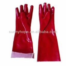 Luvas vermelhas de PVC mergulhado