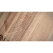 Amerikanisches Crank-Markisenfenster aus massivem Eichenholz mit Außenverkleidung aus Aluminium und offenem Fenster mit Grille-Design