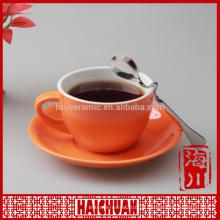 3oz Farbe Marke Kaffeetasse & Untertasse