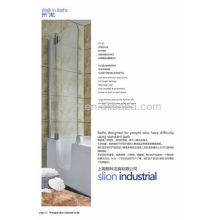 Hot sell acrylic white old man walk in bathtub pour trempage