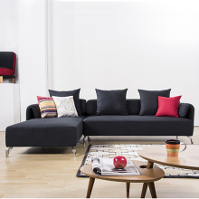 Fabric L-Shape Sofa Design In Living Room