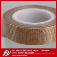 Cinta de PTFE de 0.18 mm Cinta de teflón Cinta adhesiva de fibra de vidrio para sellado en caliente