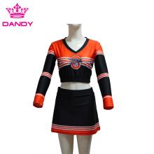 Custom Striped Sublimated Cheerleader Dress