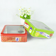 with PVC Window Decorating Christmas Cookie Tin Box