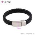 Armband-44 Xuping einfache Mode Design Edelstahl Schmuck Leder Armband für Männer