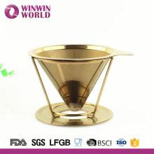 Weihnachtsgeschenk papierlose Doppelwand Titan Edelstahl Kaffee Dripper