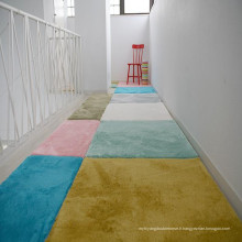 Tapis restes en peluche shag tapis court shag tapis