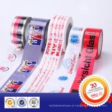 Fita adesiva impressa de base acrílica para embalagem BOPP