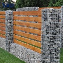 mur décoratif de clôture de panier de Gabion de barrière de jardin d'escrime, paniers en pierre pour des murs de soutènement 2.0mm