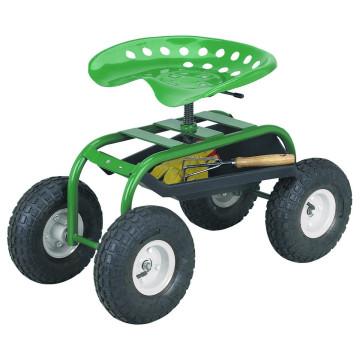 4 Wheeled Garden Caddy Tractor Seat Cart