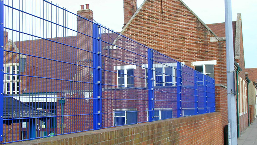 twin bar fencing panels