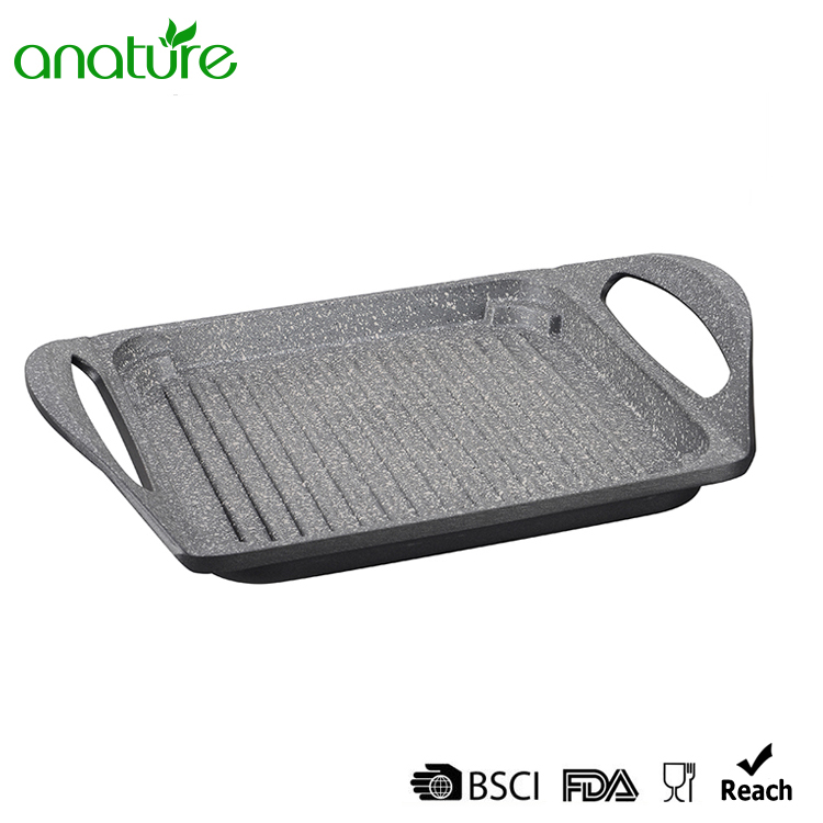 Multi-function Die Cast Non Stick Aluminum Grill Pan