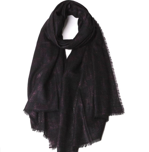 Cashmere Woven Scarf Black