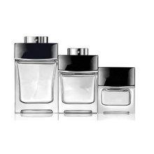 Avec grand stock de prix en gros et exquis élégante forme de conception transparents bouteilles de parfums en verre