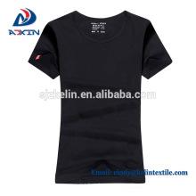 Camiseta de alta calidad del OEM, camiseta de encargo de los hombres de la impresión de la pantalla del algodón 180gsm del logotipo