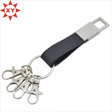Fashion Black Belt Leather Key Chain Buckle Key Rings