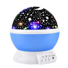 multicolor ABS engineering plastic 360n degree rotating long lifespan high quality led projection lamp